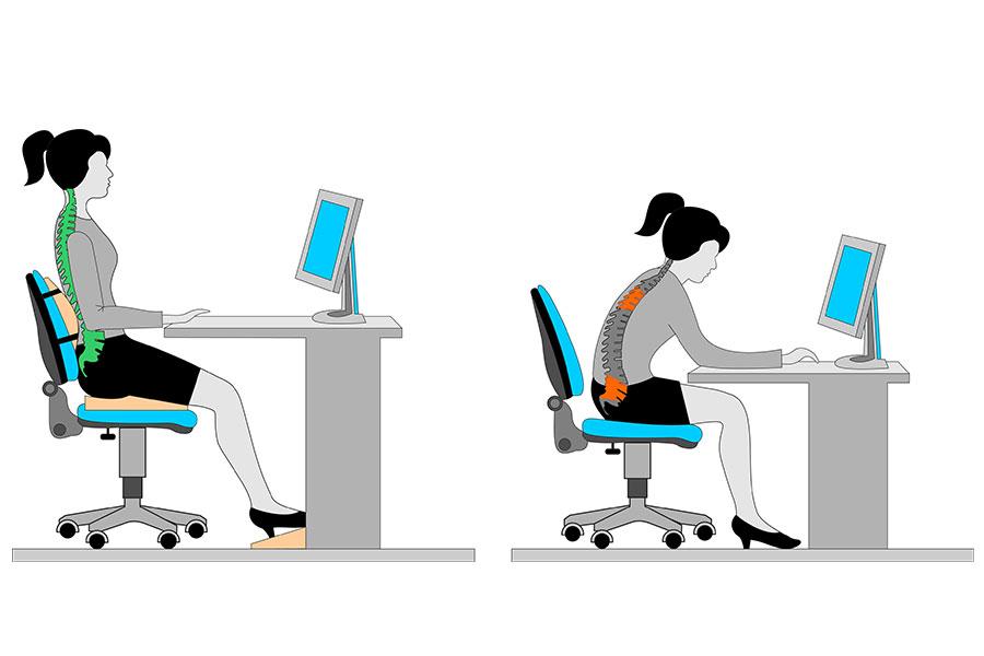 Rückenschmerzen vom Sitzen